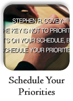 Schedule your priorities, 2 minutes