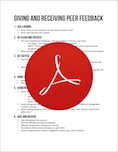 Giving And Receiving Peer Feedback PDF
