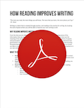 How Reading Improves Writing PDF