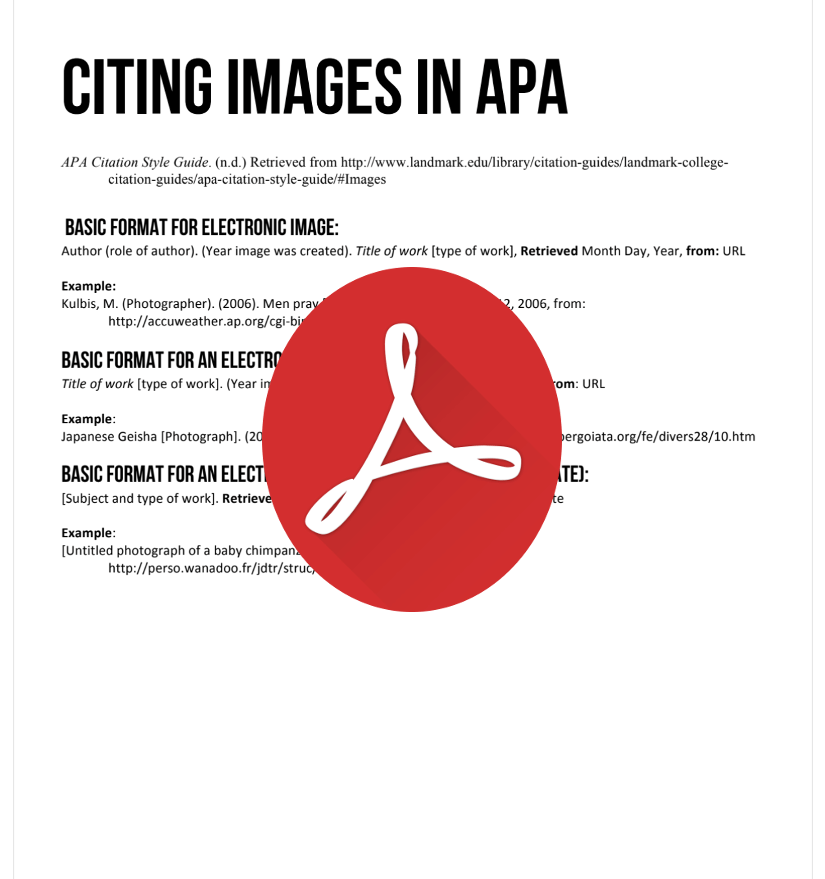 Citing Images in APA