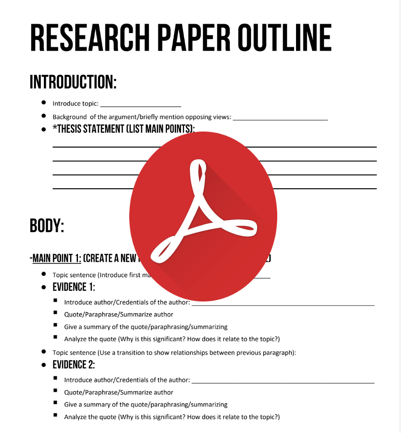 Sentence outline research paper