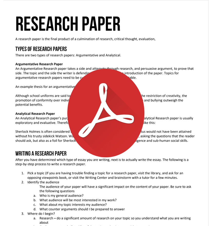argumentive research papers
