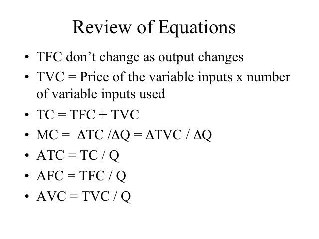Answers to Production Worksheet