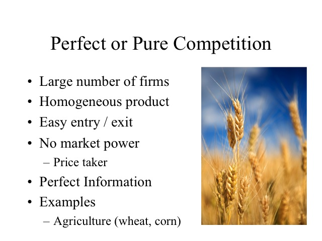 market structure competition Comparison and contrast the 4 types of market structure: perfect competition definition  there are many buyers and sellers, the products are homogeneous and sellers can easily enter and exit from the market characteristics.