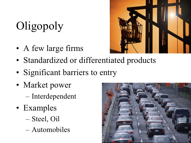 an introduction to the market structure of oligopoly