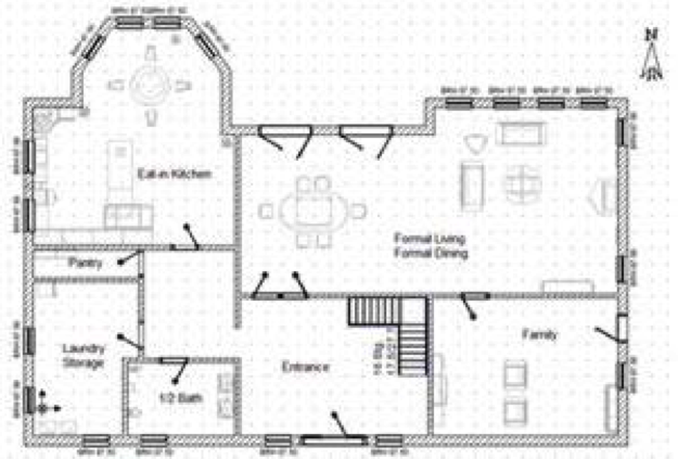Brigham young university idaho art 110 Floor plan view