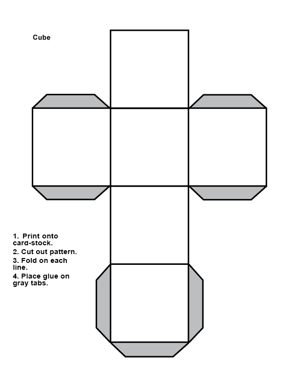 parallel planes in a cube. it is recommended that you create your own cube for reference to complete the activities this week and future weeks. parallel planes in a