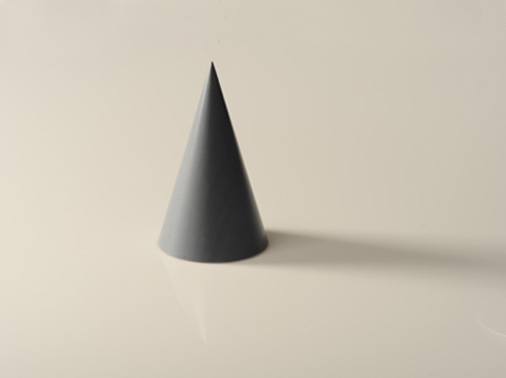 Below is a step-by-step example of how to shade a cone.