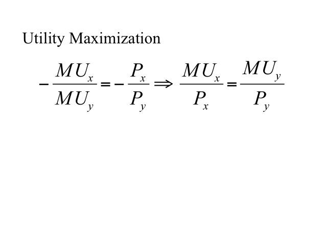 where total utility is at a maximum marginal utility is